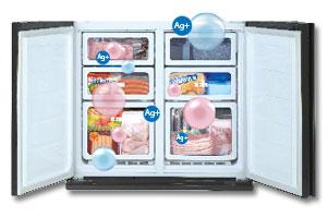 Ag+ Khử mùi hiệu quả của tủ lạnh Sharp