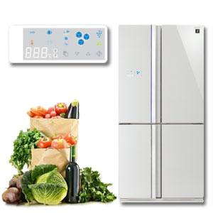 Bảng điều khiển cảm ứng của tủ lạnh Sharp
